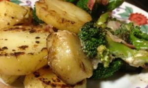 ジャガイモとブロッコリーの野菜炒め