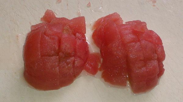 解凍トマトさいの目